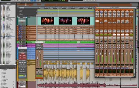 post production audio voix instruments sur protools